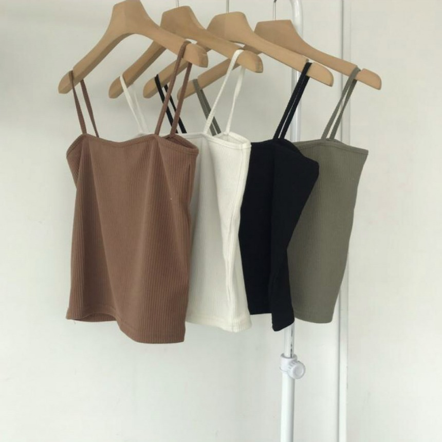Basic slim sleeveless in 4 colors
